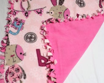Bunny Fleece Baby Blanket