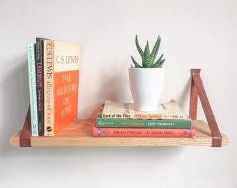 Hanging Book Shelf hanging shelves | etsy