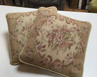 pair of handmade needlepoint cushion covers - inners not included