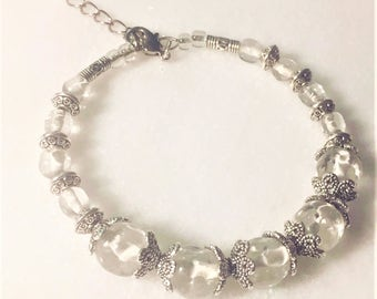 Czech Crystal and Silver Bracelet