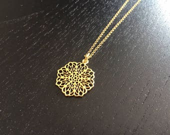 Filigree charm necklace, personalised necklace, dainty, delicate, chain, vermeil necklace, silver, gold plated neckace
