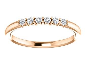 6 Diamond Band, Diamond Ring, Stacking Ring, Diamond Band, Wedding Band, Delicate Diamond Ring, Engagement Ring