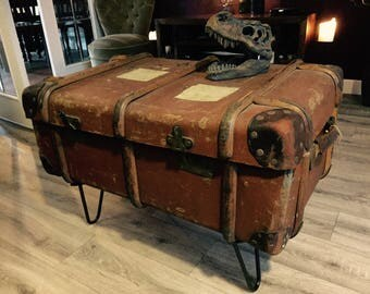 Vintage Suitcase / Steamer Trunk Coffee Table