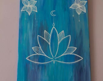 Blue and White Lotus