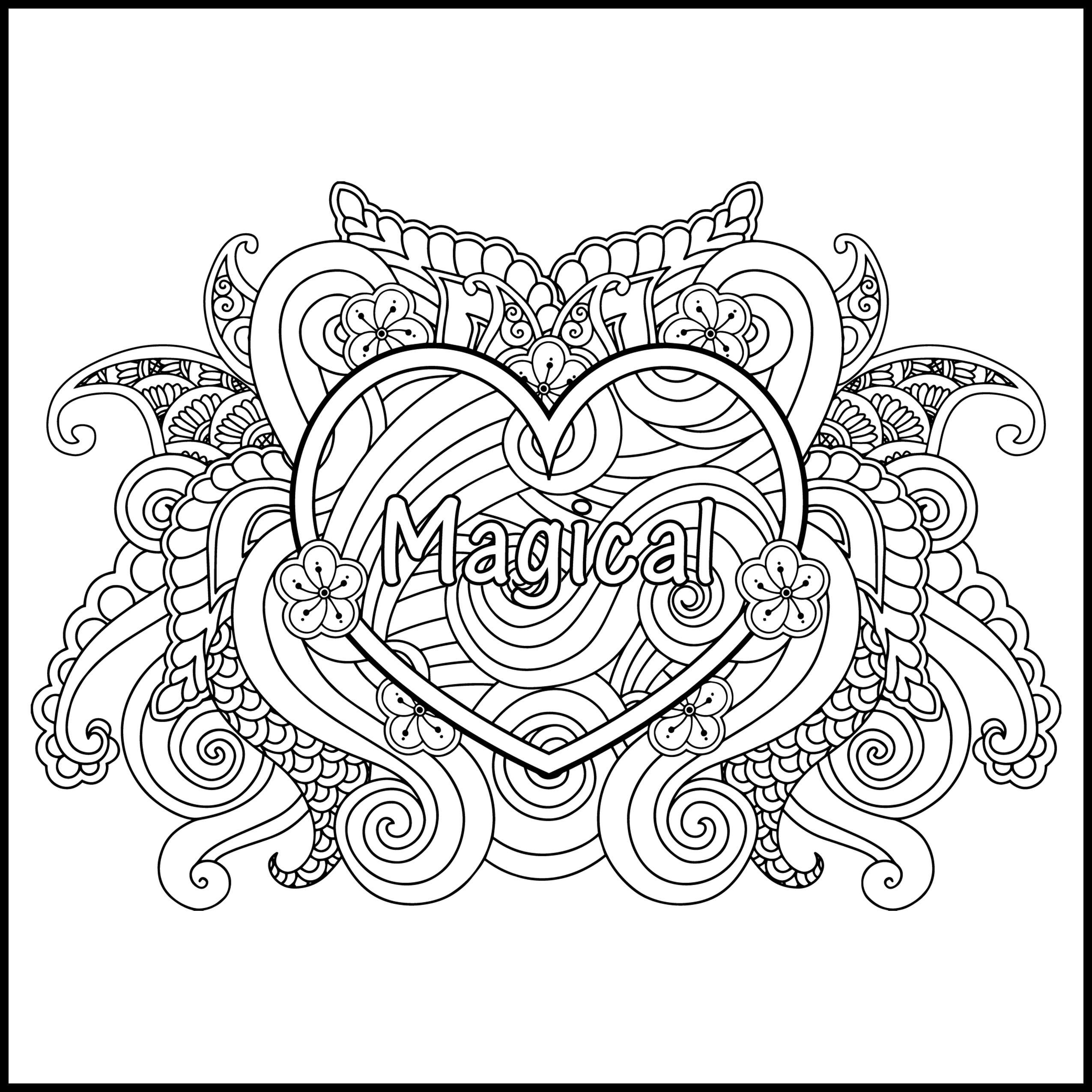 I AM Magical Adult Coloring Page Inspiring Coloring Page
