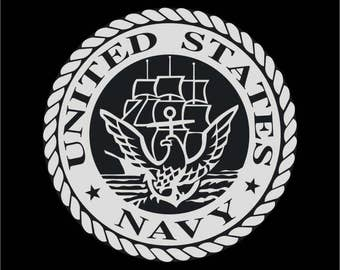 Military car decal stickers. Navy marines air force army. Vinyl