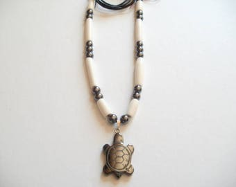 Necklace Native American turtle hematite