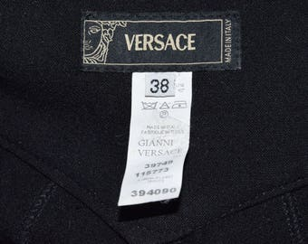Versace black pants / / black trousers / / luxury / / Vintage / / VintageALaMaison / / gift / / for her / / good condition.