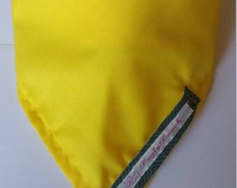 Small Bright Yellow Tie Dog Bandana