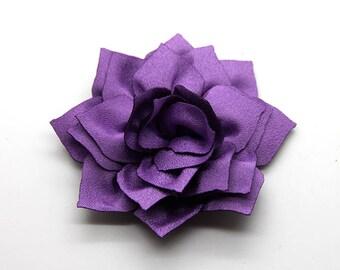 2 Purple Poinsettia Flower Baby Girl Flower Hair Clips Brooches