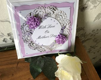 Handmade 3D Mother's Day card