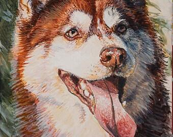 """Pet Portrait - ACEO 3"""" x 5"""" Miniature painting"""
