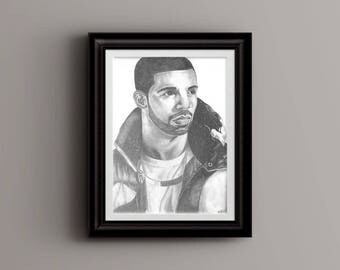 Drake, Graphite Drawing