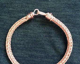 copper wire woven bracelet