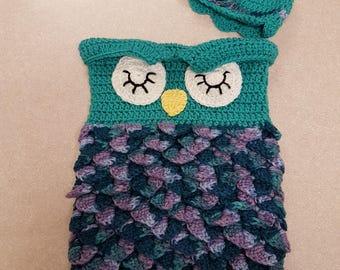 Baby Owl Cocoon Set