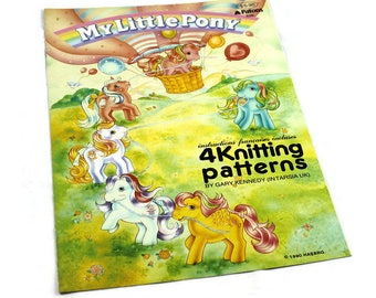 Vintage Patons Knitting Pattern Booklet My Little Pony Character Sweater Children's & Adult's Sizes