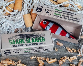Handcrafted wooden lures