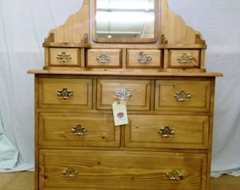 Stunning Solid Pine Dressing Table with Mirror