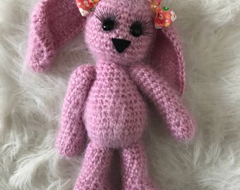 Handmade knitted bunny