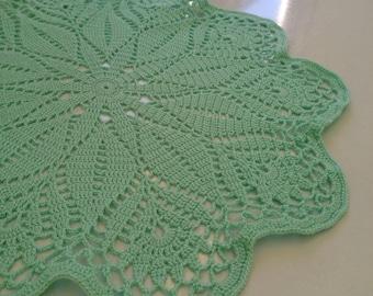 Green doily, Mint doily, crochet doily, home decor, table decor, Table Topper, Crochet Placemats, Placemats, Wedding Decor