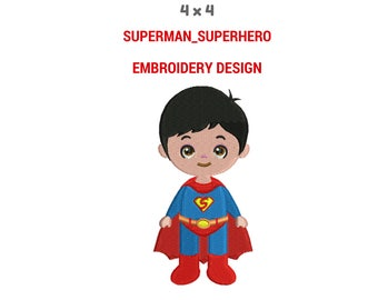 Superman Embroidery Design | Machine Embroidery Design | Superhero Embroidery Stitches | Superhero PES Format