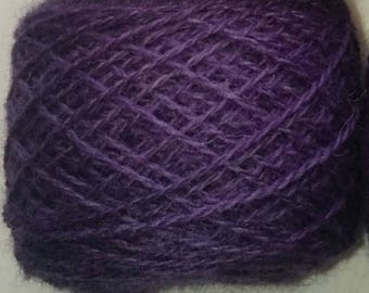 Logwood naturally dyed Shetland wool, ideal for Fairisle knitting and other colour work. Available in 25g balls.
