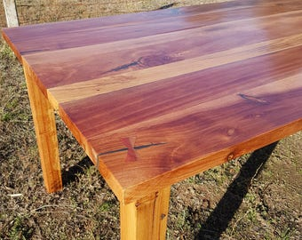 Recycled timber dining table. Sheoak and Australian hardwoods