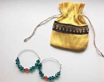 SV's Handmade hoop earrings