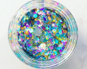 Rainbow Unicorn Glitter • Festival Glitter •  Glitter Makeup • Chunky Cosmetic Glitter | Dance - Eyes, Lips, Face | Face Paint Glitter
