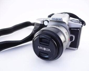 Minolta Maxxumm4 (Dynax4) 50mm SLR lens AF 35-80mm film camera