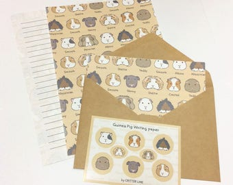 Guinea pigs of the world Letter Set - brown
