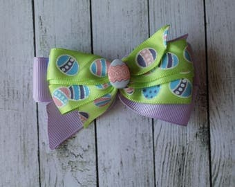 SALE Multicolor Easter Egg Bow