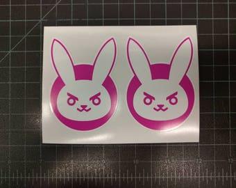 Dva D.Va Overwatch Bunny Vinyl 2 Decals