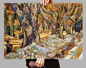 Poster 50x70 cm Trees Saint Remy - Vincent van Gogh Digital