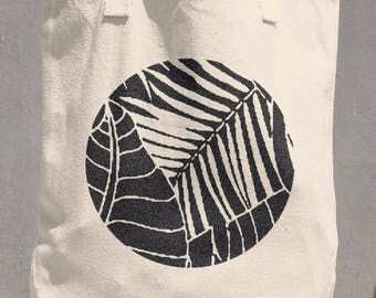 Canvas Tote Bag - Fronds