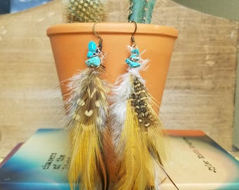 Feather Earrings: When Skies Are Gray