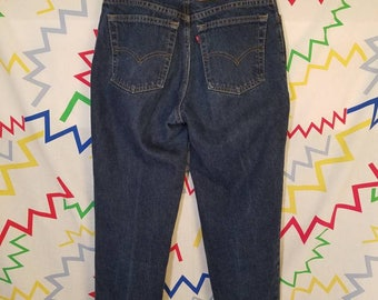 high waisted 90s Levi's blue jeans