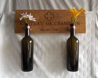 Double Wine Bottle Hanging Vase