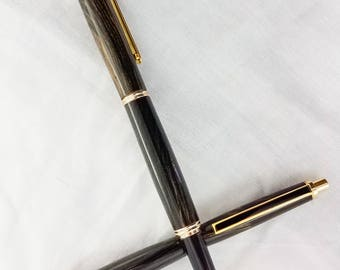 Black and white ebony pen and pencil combo