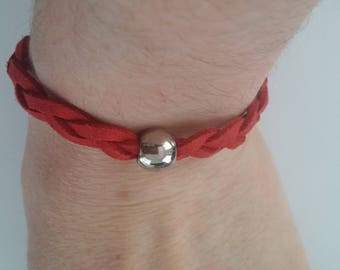 Red and silver bead Bracelet