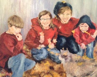 Custom Family Portrait Painting, Custom Oil Painting, Custom Portrait Painting, Photo to Painting, Family Portrait, Fine Art Oil Painting