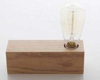 Vintage wood with Edison bulb lamp