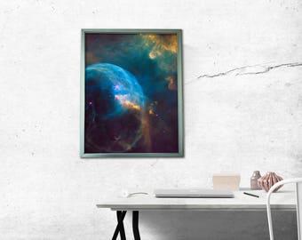 Cosmic Poster w/ LED Backlit Snap Frame