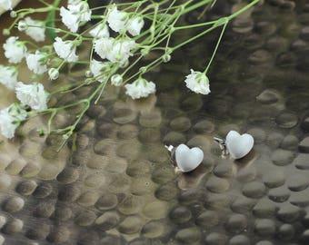 Stainless steel heart shaped earrings
