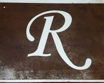 Custom Rusted Steel Letter Sign
