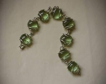 Green Glass Stones Bracelet