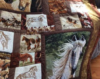 For the love of horses quilt