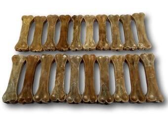 """Top Dog Chews 6"""" Pressed Rawhide Dog Bone 20 Pack"""