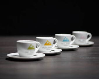 Cycling inspired French Alps Espresso Cup Collection Series 1