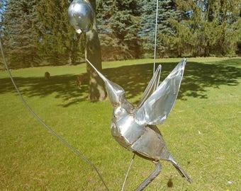 Hummingbird Yard Art